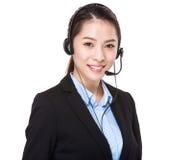 Agente di servizi di assistenza al cliente immagini stock libere da diritti