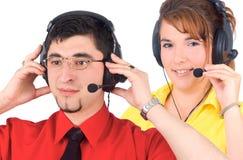 Agente di servizio di assistenza al cliente immagine stock libera da diritti