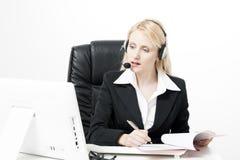 Agente dos serviços de cliente empresa imagens de stock royalty free