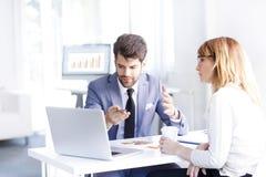 Agente e cliente Immagine Stock