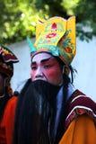 Agente en estilo chino del traje de la ópera Imágenes de archivo libres de regalías