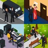 Agente especial Isometric Concept stock de ilustración