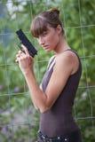 Agente fêmea com injetor Foto de Stock Royalty Free