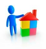 Agente immobiliare illustrazione di stock