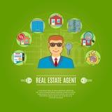Agente immobiliare Concept Fotografia Stock Libera da Diritti