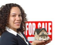 Agente inmobiliario Fotos de archivo libres de regalías