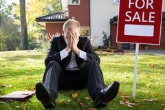 Agente inmobiliario dimitido Imagen de archivo libre de regalías
