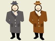 Agente investigativo con cigare con l'assistente royalty illustrazione gratis