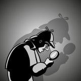 Agente investigativo con una lente d'ingrandimento Royalty Illustrazione gratis