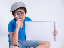 Agente investigativo del ragazzo Fotografia Stock Libera da Diritti