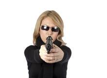 Agente investigativo della donna Fotografie Stock
