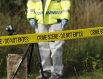 Agente investigativo della scena del crimine Immagini Stock Libere da Diritti