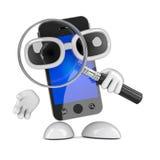 agente investigativo di 3d Smartphone Immagini Stock Libere da Diritti