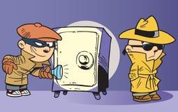 Agente investigativo e criminale Fotografie Stock