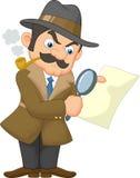 Agente investigativo Man del fumetto Fotografia Stock Libera da Diritti