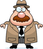 Agente investigativo Mustache del fumetto royalty illustrazione gratis