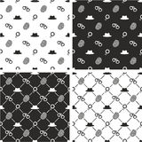 Agente investigativo Seamless Pattern Set Fotografie Stock