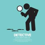 Agente investigativo Symbol Graphic Immagini Stock