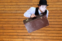 Agente que juega una pantomima Imagenes de archivo