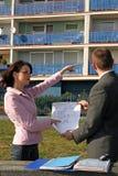 Agente que mostra a posição lisa Imagens de Stock