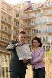 Agente que mostra a posição lisa Imagem de Stock Royalty Free
