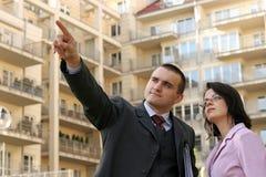Agente que muestra la localización plana Fotografía de archivo