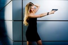 Agente secreto atractivo fotografía de archivo libre de regalías