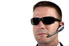 Agente secreto que escuta Foto de Stock