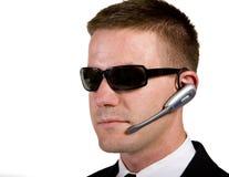 Agente secreto que escuta Fotos de Stock