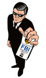 Agente secreto que mostra o emblema Fotos de Stock