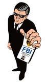 Agente segreto che mostra distintivo Fotografie Stock
