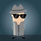 Agente segreto divertente illustrazione vettoriale