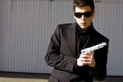 Agente segreto pronto Immagine Stock Libera da Diritti