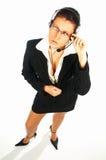 Agente sexy 1 del centro di chiamata Immagini Stock