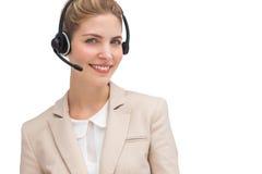 Agente sorridente della call center Fotografia Stock Libera da Diritti