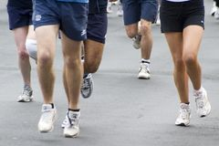 Agenten bij de Marathon April 2006 van Leeds Stock Afbeeldingen