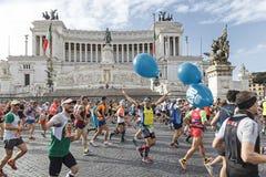 Agenten bij de Marathon van Rome in 2016 Royalty-vrije Stock Foto