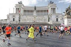 Agenten bij de Marathon van Rome in 2016 Royalty-vrije Stock Foto's