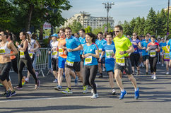 Agenten bij marathon Stock Foto's