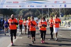 Agenten in de Halve marathon van Rome Royalty-vrije Stock Foto's