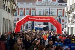 Runners in the Madrid Marathon