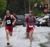 Agenten die sprinten te eindigen Royalty-vrije Stock Fotografie