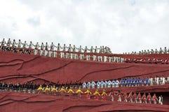 Agentes chinos de la minoría en el teatro al aire libre por Fotografía de archivo