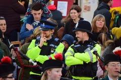 Agentes da polícia de Devon e de Cornualha Fotografia de Stock Royalty Free