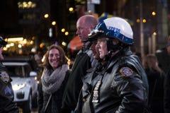 Agentes da polícia em New York fotografia de stock royalty free