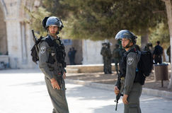 Agentes da polícia israelitas Imagens de Stock
