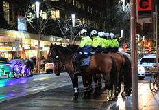 Agentes da polícia na rua Melbourne de Swanston Imagem de Stock