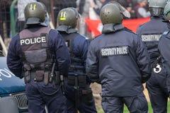 Agentes da polícia na rua Melbourne de Swanston Fotografia de Stock