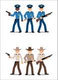 Agentes da polícia e xerifes Imagens de Stock