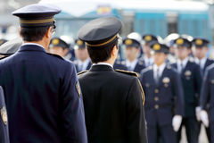 Agentes da polícia japoneses Fotos de Stock Royalty Free